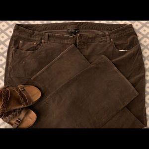 Lane Bryant Bootcut Corduroy Brown Pants 28